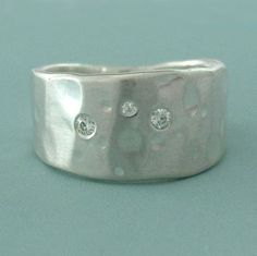 Shoreline Ring in Recycled Sterling Silver with by esdesigns, $45.00