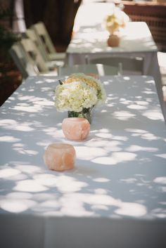 Simple wedding centerpieces | Klick Photographic