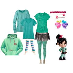 """Vanellope running costume"" by maramarrie on Polyvore"