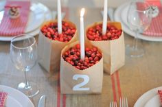 Cranberry Candle Centerpiece | Photo by Mary Swenson