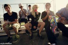 shoes, studs, skate park, fashion dresses, style, venice beach, inspir, boots, fashion shoots