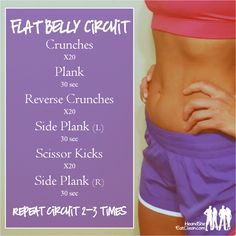 It is important to have overall strength and that includes your core...so we introduce to you our Flat Belly ab workout circuit! You can add this to the end of one of your weight workouts or do it on your rest day. For more workouts and healthy recipes visit HeandSheEatClean.com. #eatclean #abs #fitness #workout #circuit