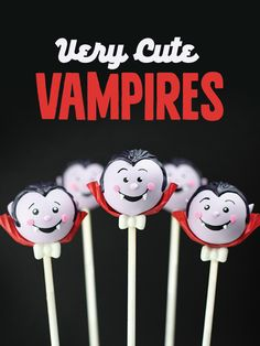Very Cute Vampires from my Cake Pops Halloween Book