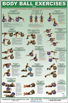 Ball exercises core workout