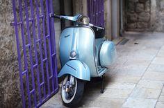 Baby Blue Vespa