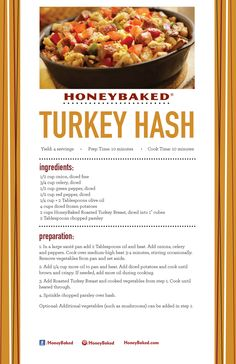 HoneyBaked Turkey Hash #HoneyBaked #TurkeyBreast #Recipe