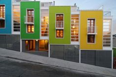 Lofts Yungay II By Rearquitectura #coloreveryday colorful design, the loft, home exteriors, house exteriors, colorful houses, apartment design, modern architecture, urban loft, small houses