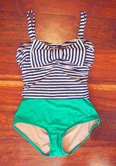 Our newest swimsuit is available now: Elizabeth in Atlantis #ReySwimwear #WhoSaysItHastoBeItsyBitsy