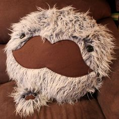 Mustache Monster Pillow and Plush by loveandasandwich on Etsy, $71.00