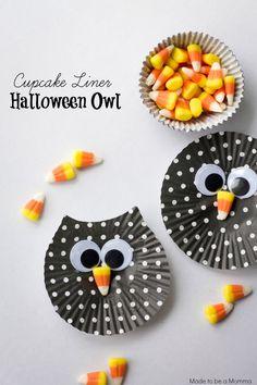 Cupcake Liner Halloween Owl