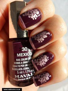 Nail Art ~ Grapes in grape :)