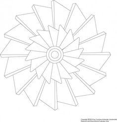 Free Printable Pinwheel Mandala Coloring Page