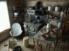 Pioneer kitchen...however I do so love the amenities of todays kitchen!