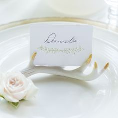 Mini Antler Place Card Holders | Woodland Chic Modern Wedding Decor