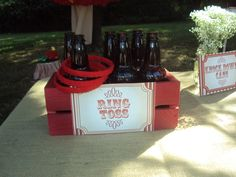 Vintage game of ring toss #carnival #birthday #party
