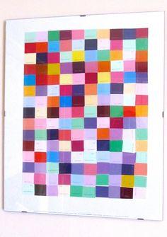 Paint Chip Art -- such a simple & easy idea!