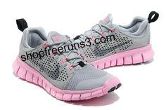 2013 Women Nike Free Run +3 Grey Pink Low Price