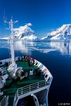 Heading into Lemaire Channel (Between Booth Island & Wilhelm Archipelago), Penola Strait, Antarctica