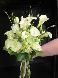 White calla lily bouquet.