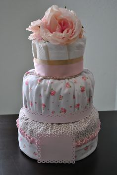 Different take on the diaper cake for a baby shower