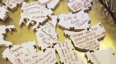 Have guests sign puzzle pieces to later put together and frame!