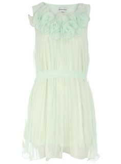 This Dorothy Perkins Mint pleated ruffle neck dress is a MUST have! Only $17