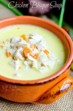 Chicken Bisque Soup - this looks so tasty!
