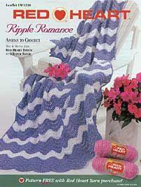 Ripple Romance Afghan LW1238 | Free Patterns | Yarn