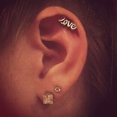 Love cartilage earring