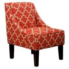 Hudson Swoop Chair - Red Geometric (Target, $199.99)