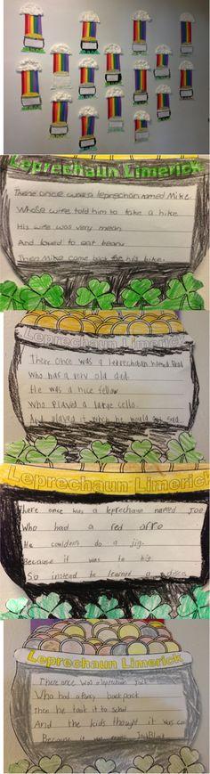 Leprechaun Limerick Poem idea and craftivity!