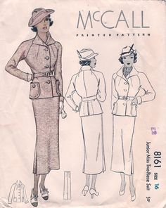 1930s McCall suit pattern