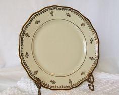 Johann Haviland Bavaria China Plate Ivory with by pinkpainter