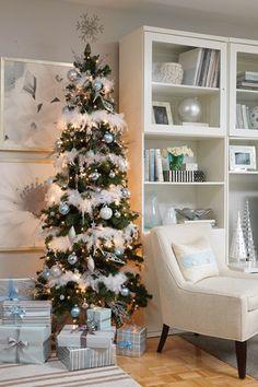 skinny christmas tree - white