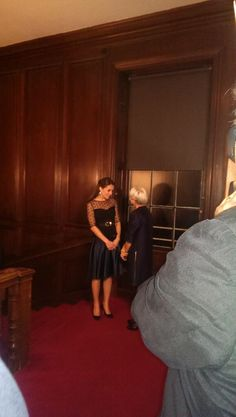 Kate has arrived in Hobbs top and jenny packham skirt. Place2Be awards