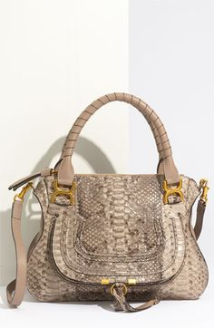 Chloé 'Marcie - Small' Genuine Python Satchel