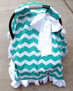 Chevron Print Baby Carrier Cover Canopy Cover- Pick Your Color - Customize