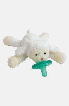 WubbaNub™ Pacifier Toy.. this could come in handy when babies cant really keep the pacifier in their mouth