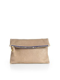 Textured Fold-Over Clutch - Zoom - Saks Fifth Avenue Mobile