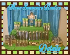 mesa de souvenirs para bautizo  https://www.facebook.com/detailss