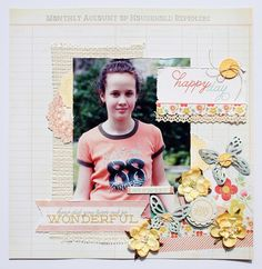 "Paperlicious Designs: My Mind's Eye Layout ""The Sweetest Thing"""