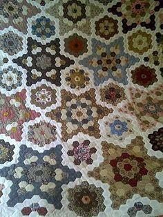 quilt hexagon, jo morton quilts, hexi quilt, star