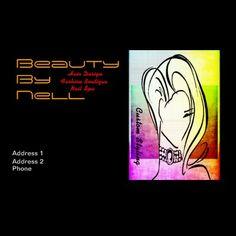 Bouquet 3. Custom Beauty Boutique Biz Cards by Groovyal