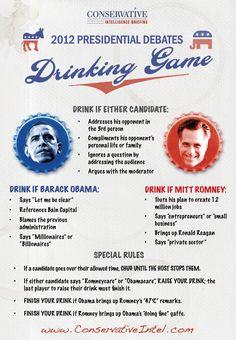 Hilarious... 2012 Presidential Debates Drinking Game