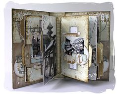 Destination mini album...inside.  Beautiful!