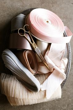 blush and grey color palette