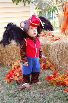 """""""Flying Monkey. This would be a great family costume idea, everyone could dress up as a different character from the Wizard of Oz."""" (Personally, I find this cruel and horrible, dressing your baby as the flying monkey. Which is why I would totally do it, let's be honest. >.>)"""