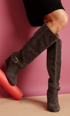 Beautiful suede boots.