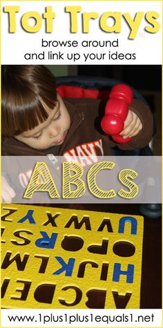 Alphabet Tot Tray Ideas ~ fun with letters for young children!