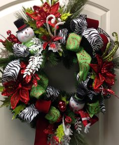 Red and black zebra wreath at Something Special Easley SC